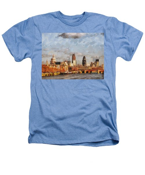 London Skyline From The River  Heathers T-Shirt by Pixel Chimp
