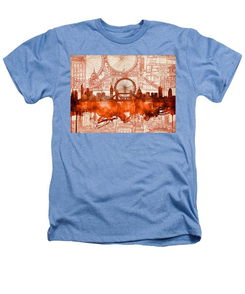 London Skyline Old Vintage 2 Heathers T-Shirt