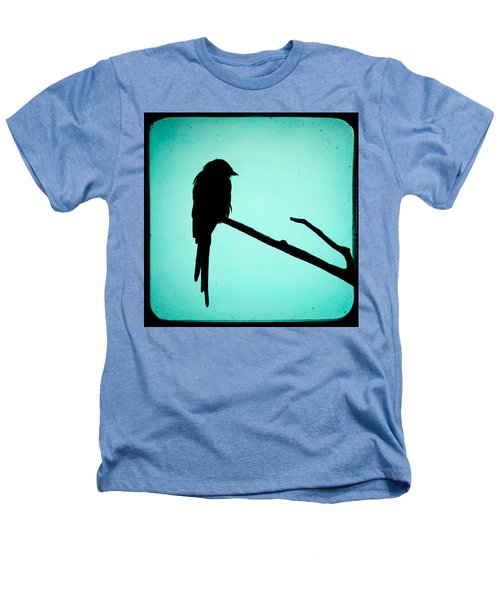 Magpie Shrike Silhouette Heathers T-Shirt by Gary Heller