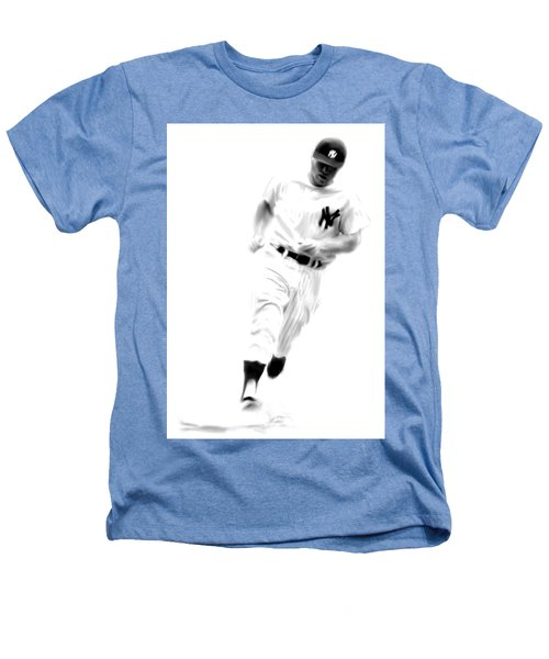 Mantles Gate  Mickey Mantle Heathers T-Shirt by Iconic Images Art Gallery David Pucciarelli