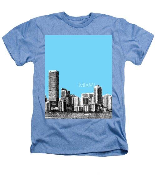 Miami Skyline - Sky Blue Heathers T-Shirt
