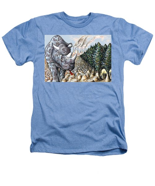 Money Against Nature - Cartoon Art Heathers T-Shirt by Art America Online Gallery
