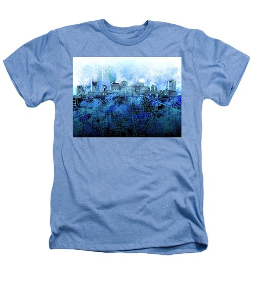 Nashville Skyline Watercolor 3 Heathers T-Shirt