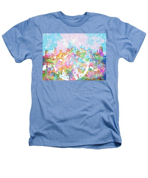 Nashville Skyline Watercolor 8 Heathers T-Shirt