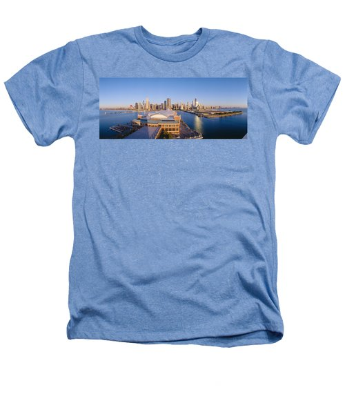 Navy Pier, Chicago, Morning, Illinois Heathers T-Shirt by Panoramic Images