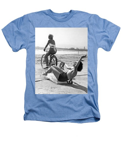 New Sport Of Ice Planing Heathers T-Shirt by Underwood Archives