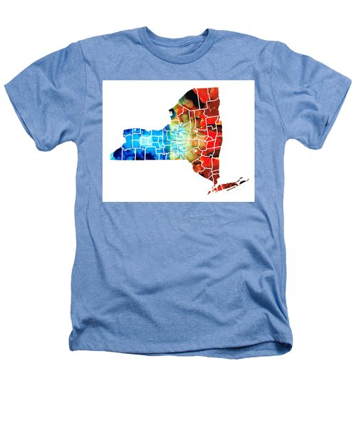 New York - Map By Sharon Cummings Heathers T-Shirt