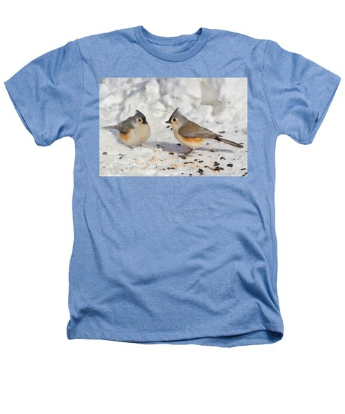 Nice Pair Of Titmice Heathers T-Shirt
