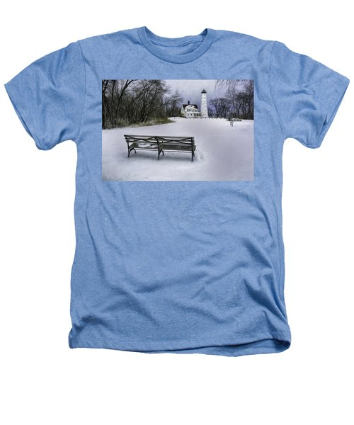 North Point Lighthouse And Bench Heathers T-Shirt