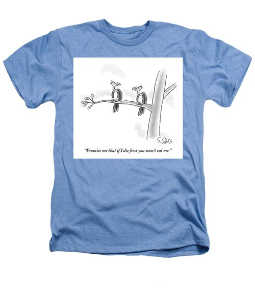 One Vulture Speaks To Another On A Tree Branch Heathers T-Shirt