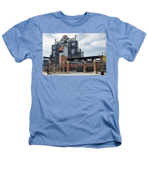 Oriole Park At Camden Yards Heathers T-Shirt by Susan Candelario