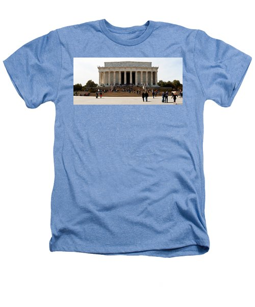 People At Lincoln Memorial, The Mall Heathers T-Shirt by Panoramic Images