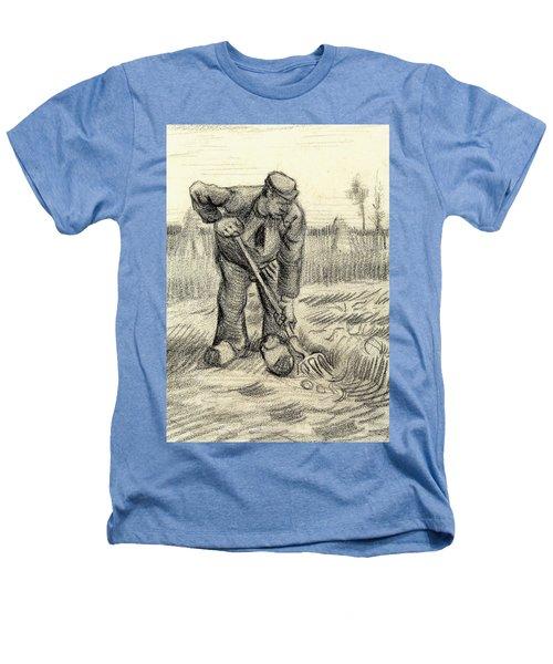 Potato Gatherer Heathers T-Shirt by Vincent Van Gogh