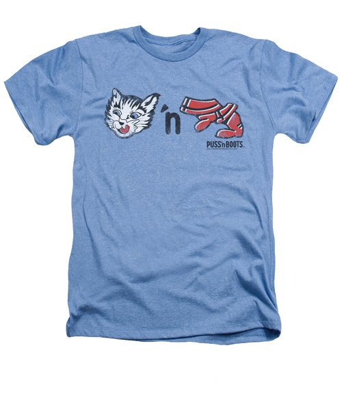 Puss N Boots - Rebus Logo Heathers T-Shirt