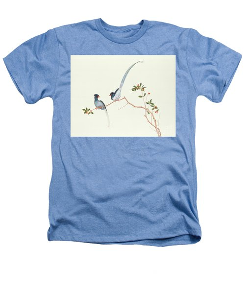 Red Billed Blue Magpies On A Branch With Red Berries Heathers T-Shirt