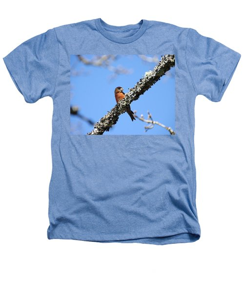 Red Crossbill Finch Heathers T-Shirt by Marilyn Wilson
