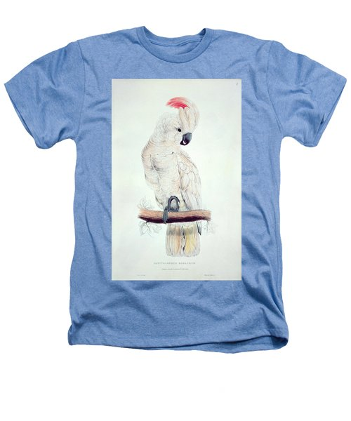 Salmon Crested Cockatoo Heathers T-Shirt by Edward Lear