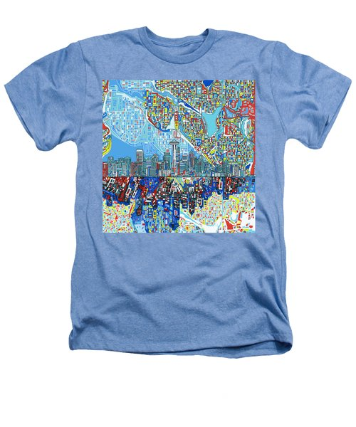 Seattle Skyline Abstract 7 Heathers T-Shirt