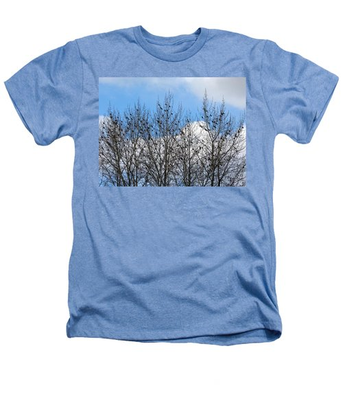 Starlings In The Cottonwoods Heathers T-Shirt