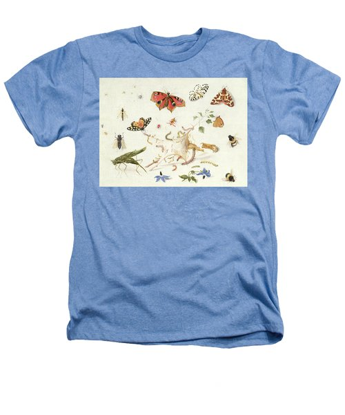 Study Of Insects And Flowers Heathers T-Shirt by Ferdinand van Kessel