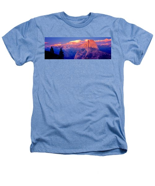 Sunlight Falling On A Mountain, Half Heathers T-Shirt by Panoramic Images