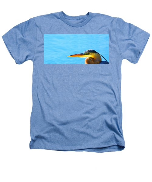 The Great One - Blue Heron By Sharon Cummings Heathers T-Shirt by Sharon Cummings