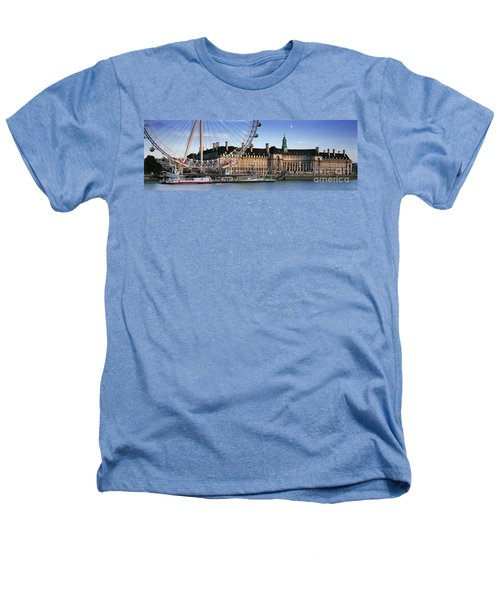 The London Eye And County Hall Heathers T-Shirt by Rod McLean
