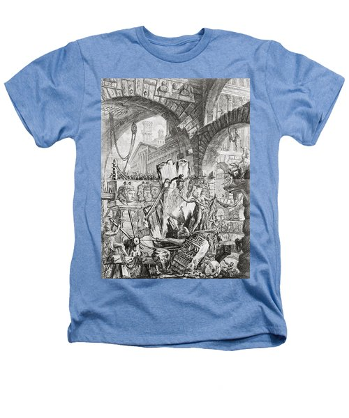 The Man On The Rack Plate II From Carceri D'invenzione Heathers T-Shirt by Giovanni Battista Piranesi