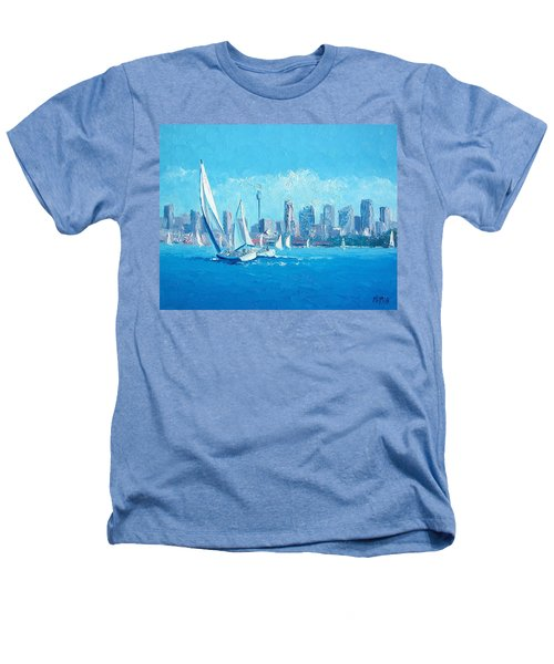 The Regatta Sydney Habour By Jan Matson Heathers T-Shirt by Jan Matson