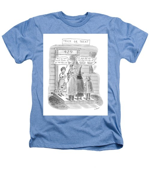 Trick Or Treat 'here Are Some Broccoli Florets - Heathers T-Shirt by Roz Chast