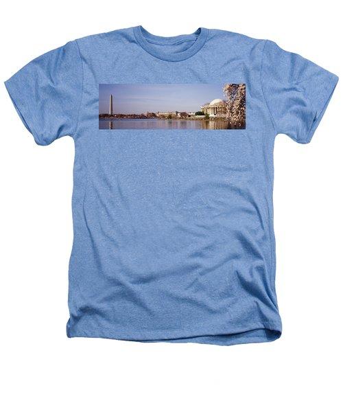 Usa, Washington Dc, Washington Monument Heathers T-Shirt by Panoramic Images