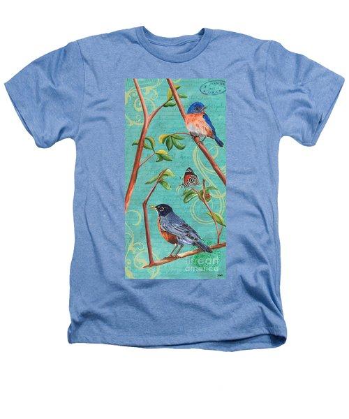 Verdigris Songbirds 1 Heathers T-Shirt