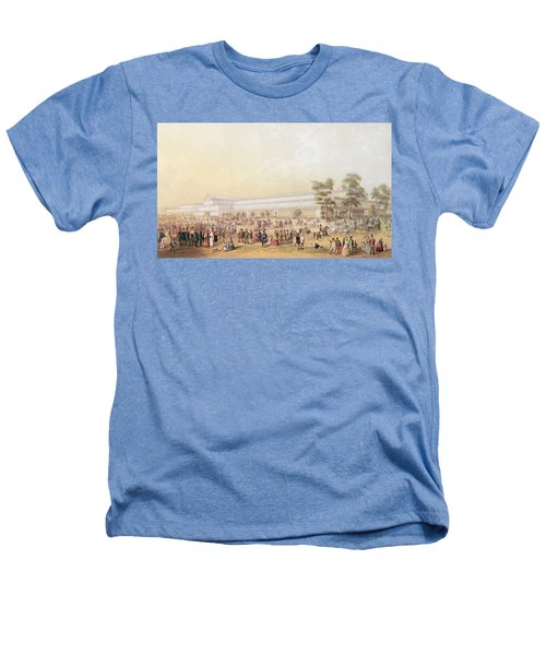 View Of The Crystal Palace Heathers T-Shirt by George Baxter