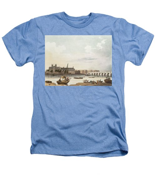 View Of Westminster And The Bridge Wc On Paper Heathers T-Shirt by English School
