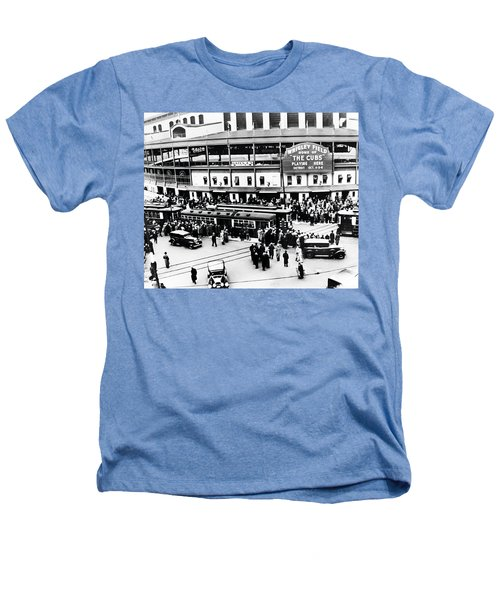 Vintage Wrigley Field Heathers T-Shirt by Bill Cannon