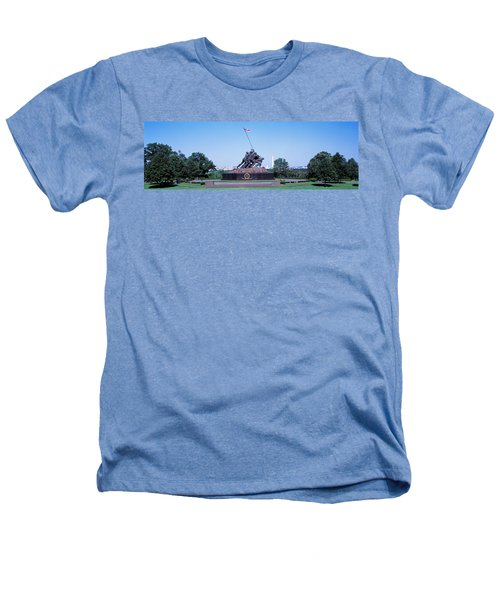 War Memorial With Washington Monument Heathers T-Shirt by Panoramic Images
