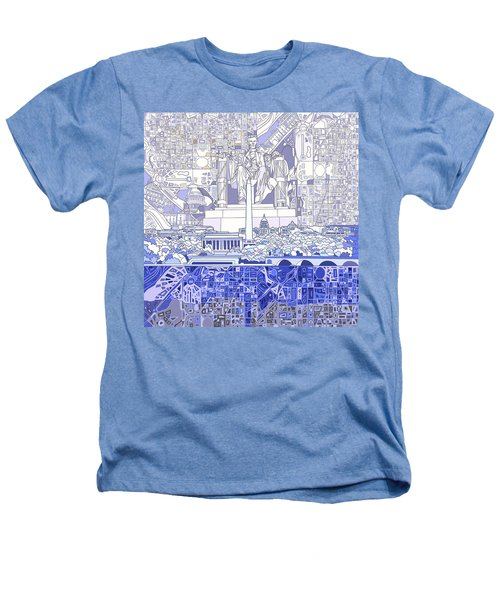 Washington Dc Skyline Abstract 3 Heathers T-Shirt