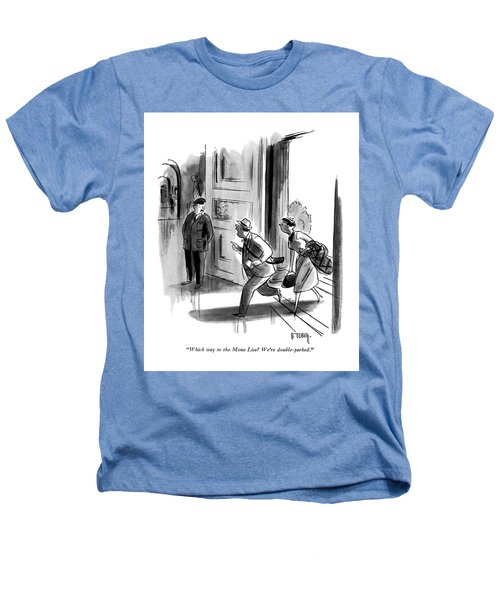 Which Way To The Mona Lisa? We're Double-parked Heathers T-Shirt by Barney Tobey