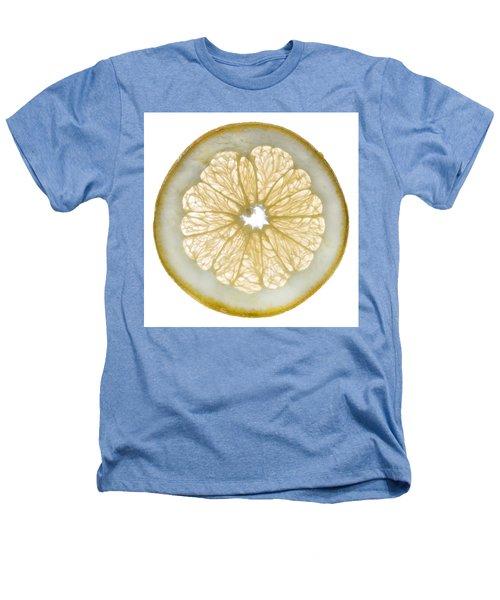 White Grapefruit Slice Heathers T-Shirt by Steve Gadomski