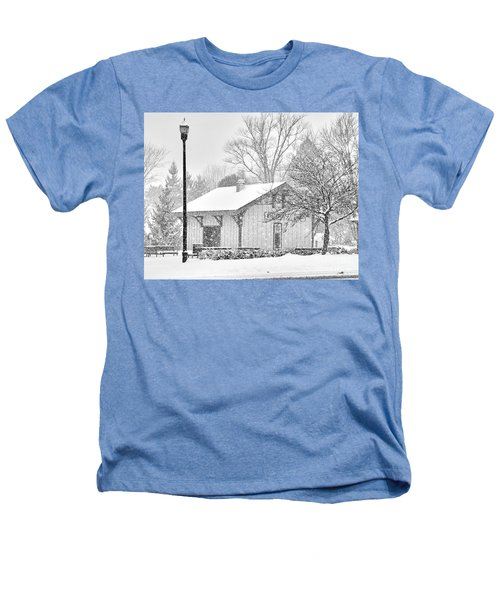 Whitehouse Train Station Heathers T-Shirt by Jack Schultz