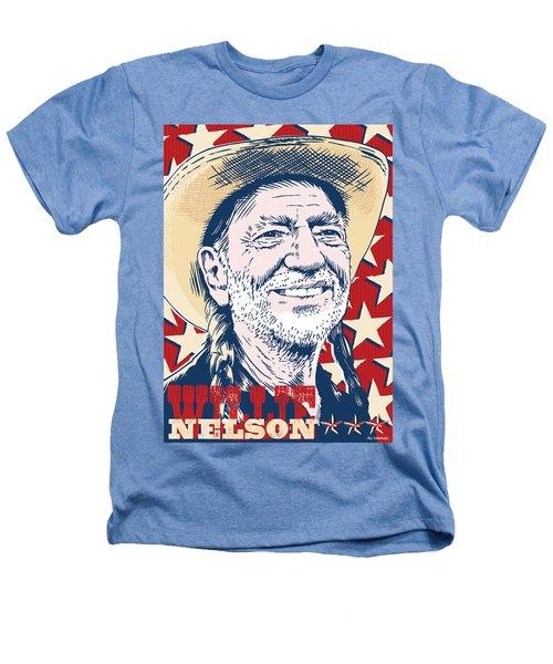 Willie Nelson Pop Art Heathers T-Shirt