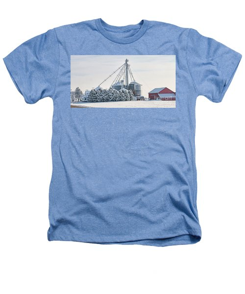 Winter Farm  7365 Heathers T-Shirt by Jack Schultz