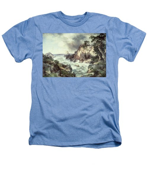 Point Lobos At Monterey In California Heathers T-Shirt by Thomas Moran