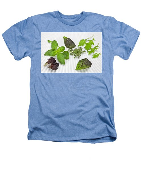 Salad Greens And Spices Heathers T-Shirt by Joana Kruse