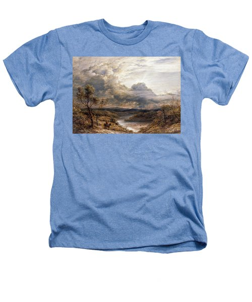 Sun Behind Clouds Heathers T-Shirt by John Linnell