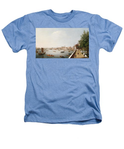View Of The River Thames From The Adelphi Terrace  Heathers T-Shirt by William James