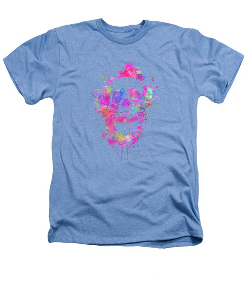 Cool And Trendy Pink Watercolor Skull Heathers T-Shirt by Philipp Rietz
