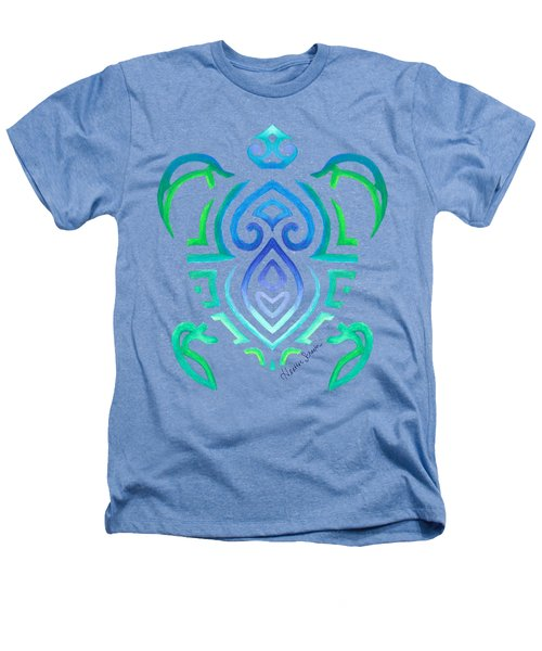 Tribal Turtle Heathers T-Shirt by Heather Schaefer