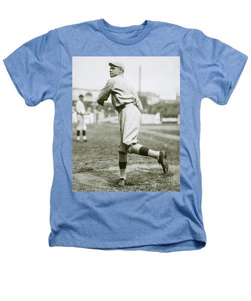 Babe Ruth Pitching Heathers T-Shirt by Jon Neidert