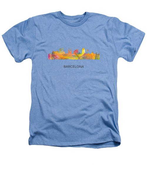 Barcelona Spain Skyline Heathers T-Shirt by Marlene Watson
